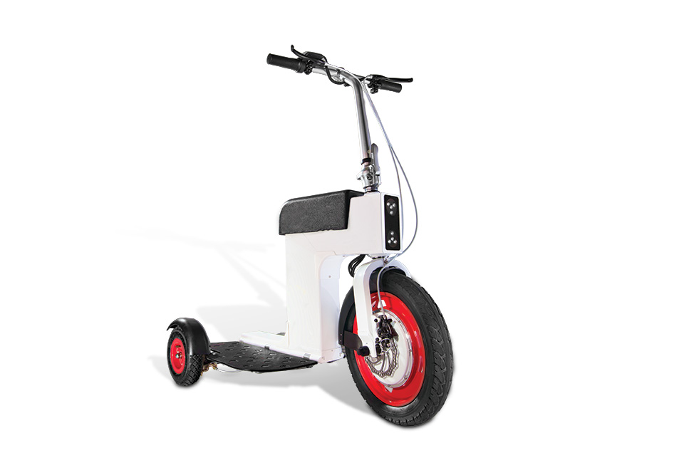For those with too much money a three wheel folding for How much does a motor scooter cost