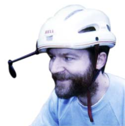 This is not me. No photos of me in the helmet survive. I hope.