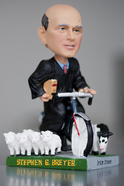 Supreme Court Justice Stephen Breyer's bobble head, produced by The Green Bag.